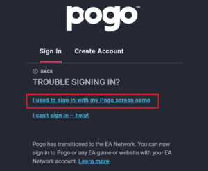 pogo sign in problems